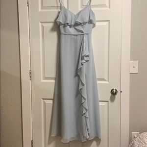 """Azazie Tami Dress, Mist, Size 4 for 5'5"""""""